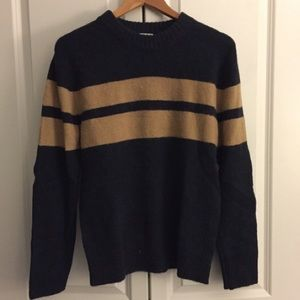 Men's David Beckham H&M Stripe Long Sleeve Sweater